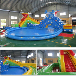 2015 giant inflatable water park, inflatable floating water park