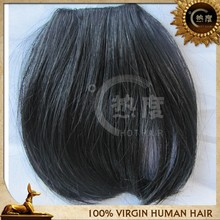Popular Human hair bangs many styles different color clip hair bangs