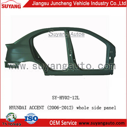 High Quality Steel Whole Side Panel For Hyundai Accent Car Auto Parts Prices