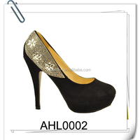 platform crystal chain rhinestone high heel shoes