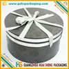 Spot UV ribbon decorated round cardboard cylinder packaging box