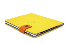 Guangzhou Leather Factory Yellow Color Leather Case For Ipad