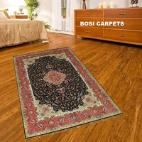4x6ft Exquisite light red nice design persian style natural silk hand knotted kashmir carpet prices
