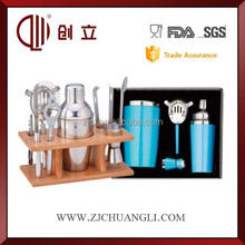 Stainless steel bar counter wine set