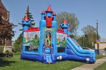 Hot sale jumping inflatable house slide bouncer combo