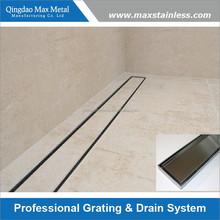 Tile insert floor trench drain