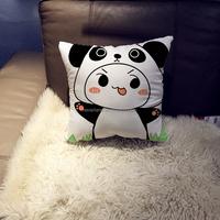 Top quality New Personalized custom 3D square Pillow soft Decorative Cushion cartoon Panda pillow case BZ1135