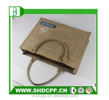 custom natural jute bag for shopping