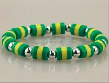 brazil country flag color beaded bracelet jewelry various flag color bead bracelets best football fan gifts