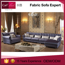High luxury furniture modern sectional sofa sets Carl'classic 1H-5217A