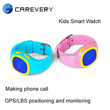 School kids gps sos smart watch for kids, children gps tracking device can make phone call