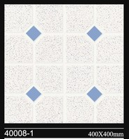 400*400mm top selling high quality light blue and white ceramic floor tile
