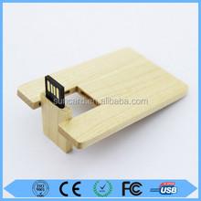 Wooden card usb stick,customize logo wooden usb card,wooden pen usb drive