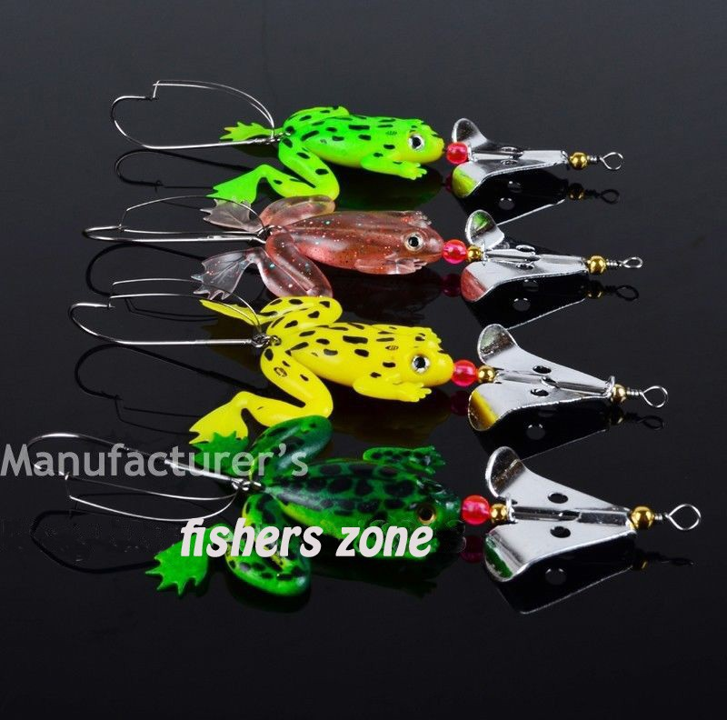 2014 New Fishing Lure Set 4pcs_LOT Rubber Soft Fishing Lures Bass CrankBait Tackle 9cm_3.54\`_6.2g spinner spoon Lures0907