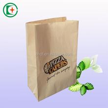Recycle brown kraft grocery paper bag take away paper bags