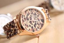 leopard print diamond hand watch for girl jelly silicone sports unisex watch SY-35041
