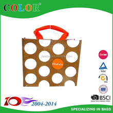 colorful pp plastic woven carry bags for fashion,recycle custom plastic woven shopping bags with tube handle