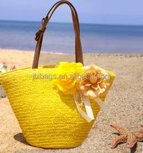 2015 natural straw beach bag & straw beach bag