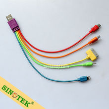 SINOTEK Multifunctional 5in1 usb cable for xiaomi for iphone for samsung