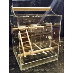 handmade elegant acrylic canary bird breeding cage