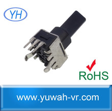 linear 9mm 10k rotary pcb mount potentiometer with plastic bushing