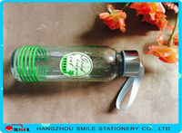 2015 new glass sparkling water bottle product wholesale