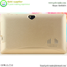 Gold color tablet pc for girls 7 inch