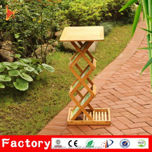 Factory metal portable standing bamboo foldable outdoor podium