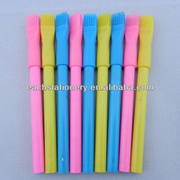 "3.5""multi color wooden funny pencil with plastic cap brush"