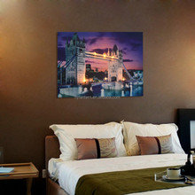 triumphal arch canvas framed led lighted painting