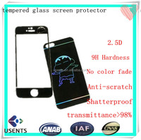 3 layers colored screen glass film for iphone, anti-scratch tempered glass screen protector