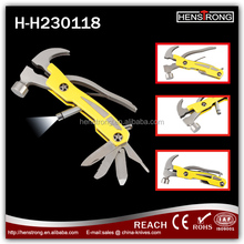 Newest designs ABS handle multi tool hammers with LED function manufacturer