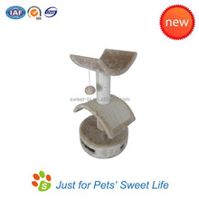 2015 high quality wholesale cat tree scratching post cat play house detachable hamburger pet house/cat bed