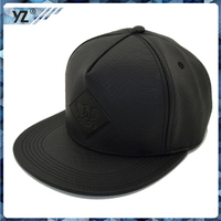 2015 New produce custom leather snapback hat/baseball cap and hat/make in China