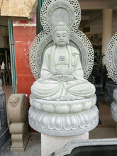 Antique Natural Stone large buddha statues for sale
