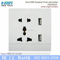 High quality AC 110-250v function of socket outlet usb wall socket for usb charger