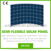 High efficiency marine flexible sunpower solar panel