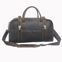 2015 Most Summer Popular Competitive Price Odm 100% Crazy-horse Leather ToteTravel Bag Single Shoulder Weekender Bag