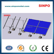 Aluminum solar energy mounting system for power system