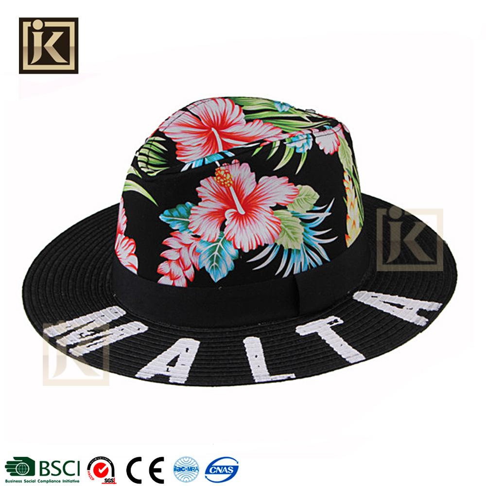 JAKIJAYI moda custom papel feito de aba larga verão chapéu panamá jack