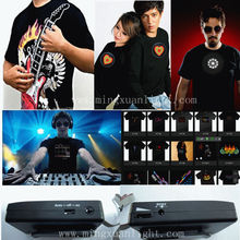 party novelty music active 100% cotton led t-shirt
