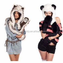 2015 new arrival wholesale custom super cute warm animal shaped xxxl cartoon plush hats