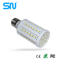 China supplier plastic cover CE rohs 15w e27 corn light led lamp