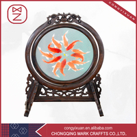 High- quality Sichuan Embroidery Table Decor Screen Painting Art