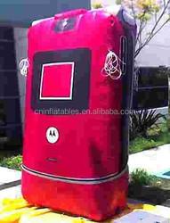 bespoke commercial inflatable razorphone replica, inflatable red mobile phone replica
