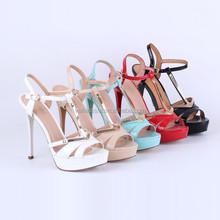 Women High Heel Strap Sandal Ankle Open Toe Platform Pump Shoes