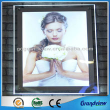 crystal led edge lit picture frames