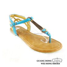 hot selling wholesale simple cold thong slingback ankle strap flats fashion sandal