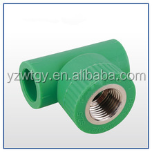 plastic pvc ppr pipe fitting female/male thread elbow with green,white