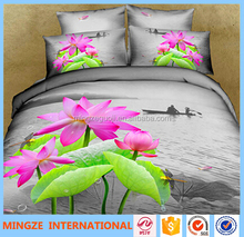 3D Disperse Printed Polyester Brushed Fabric for bed sheet/Printed Brushed fabric for home textile